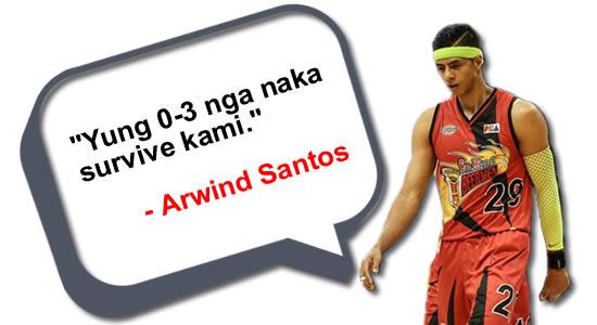 """Yung 0-3 nga nakasurvive kami"" - Arwind Santos, see list of statements"