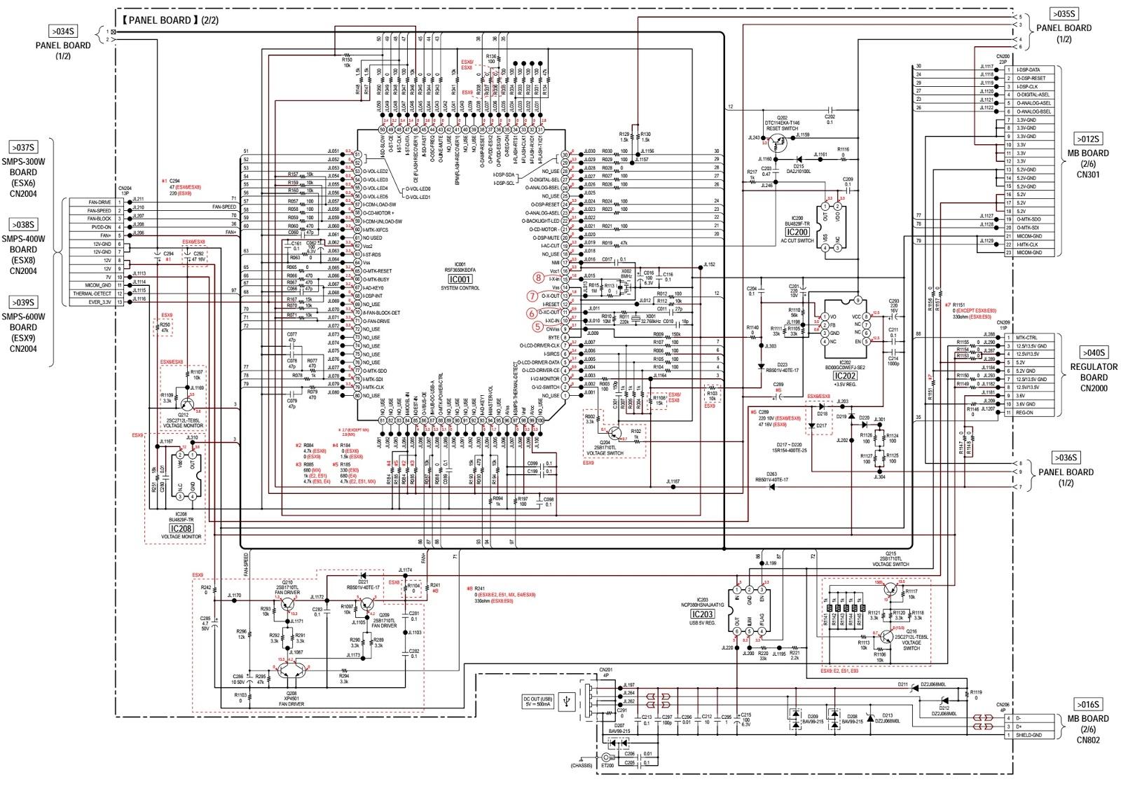 Sony HCD-ESX6 - ESX8 - ESX9 COMPACT DISC RECEIVER