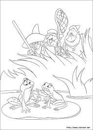 Catch Frog On Swamp Coloring Sheet For Kids
