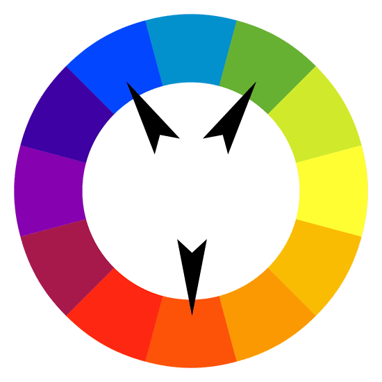 The Complementary Colour Of Red Orange Would Be Blue Green So Split Colours On Each Side