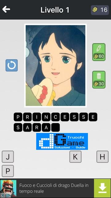 Anime Quiz soluzione pacchetto 1 livelli (1-12)