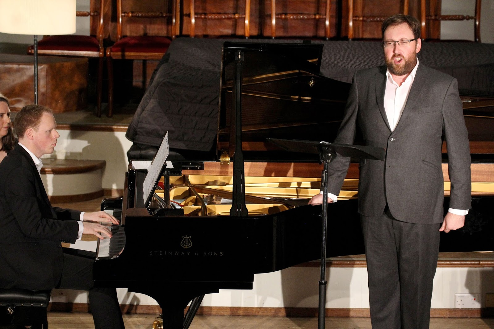 Joseph Middleton (piano) and Matthew Rose (bass)  Oxford Lieder Festival 2015  credit Robert Piwko