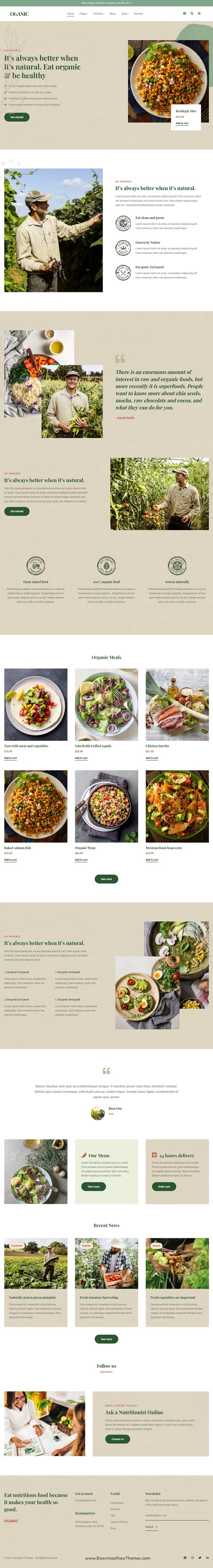 Best Organic Food Bootstrap HTML Template
