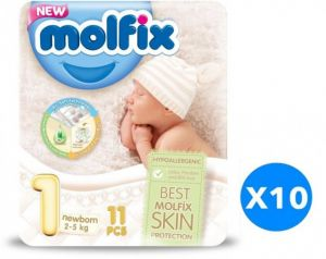 Molfix diaper number 1 for newborns