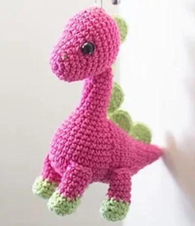 dinossauro croche amigurumi receita