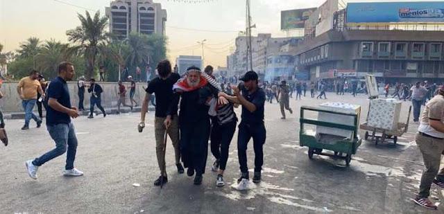 العراق يشتعل .. مظاهرات حاشدة مستمرة تطالب بإسقاط الفساد والنظام