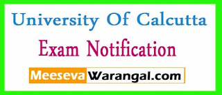University Of Calcutta B.A/B.Sc/ P-I General-2016 Exam Notification