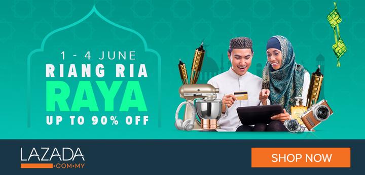 Diskaun 90 peratus Riang Ria Raya - Lazada Malaysia