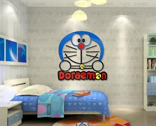 Rumah Serba Doraemon Pada Kamar yang Naytu Dengan Ruang Belajar