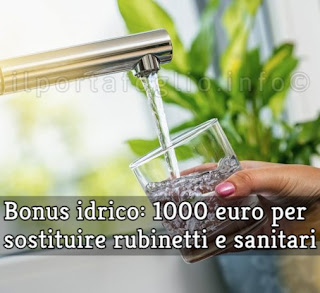 bonus rubinetti e sanitari
