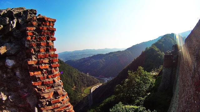 Widok z cytadeli Poienari (sierpień 2014)