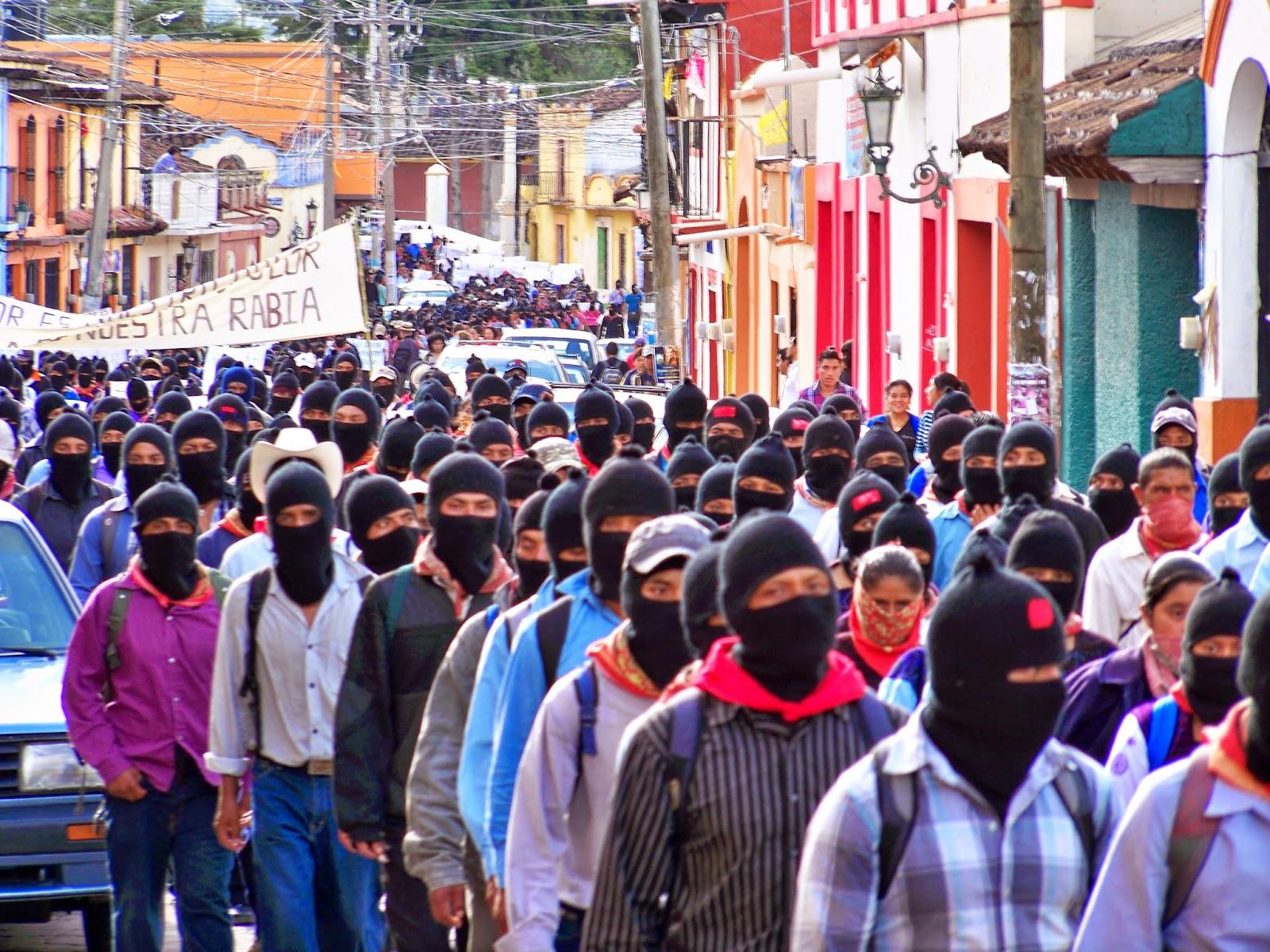 Resultado de imagem para fotos das marchas zapatistas