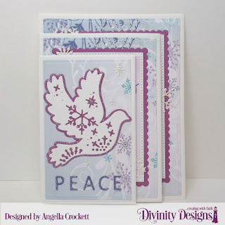 Stamp Set: Keep Christ, Custom Dies: Christmas Dove, Four Panel Fold Card With Layers, Letter Board, Pierced Rectangles, Scalloped Rectangles, Paper Collection: Christmas 2019