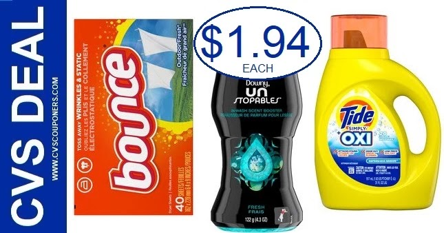 CVS Deal on Tide, Bounce or Downy 7/4-7/10