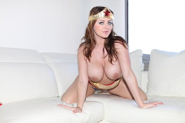 Sophie Dee sexy wonder woman naked big boobs hanging out
