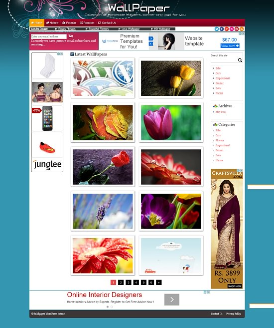 WallPaper WordPress theme Download Versi Canada