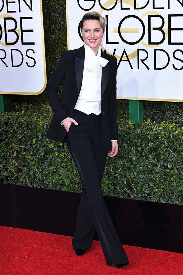 evan rachel wood golden globes 2017
