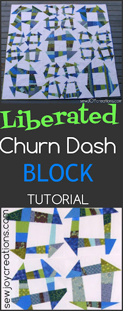 Liberated Churn Dash Block tutorial by Sarah Vanderburgh