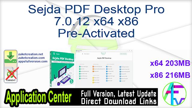 Sejda PDF Desktop Pro 7.0.12 (x64) Pre-Activated