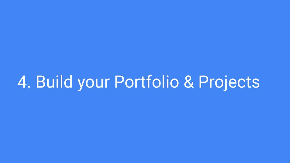 build your portfolio and projects