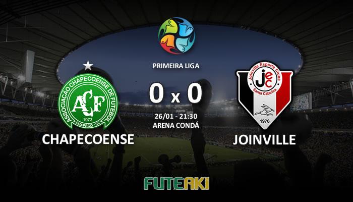 Veja o resumo da partida com os gols e os melhores momentos de Chapecoense 0x0 Joinville pela Primeira Fase da Primeira Liga 2017.