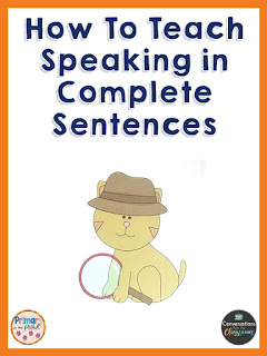using pictures to teaching speaking in a complete sentence