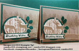 Quick and Easy Card Winter Woods Dashing Deer