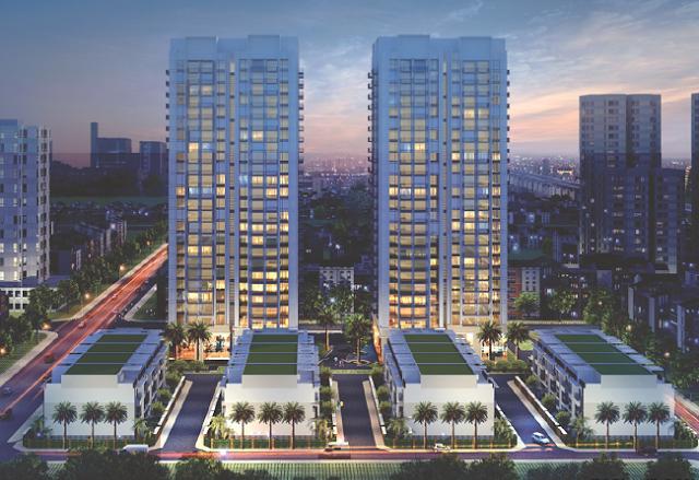 Phối cảnh tổng thể dự án liền kề chung cư Thống Nhất Complex