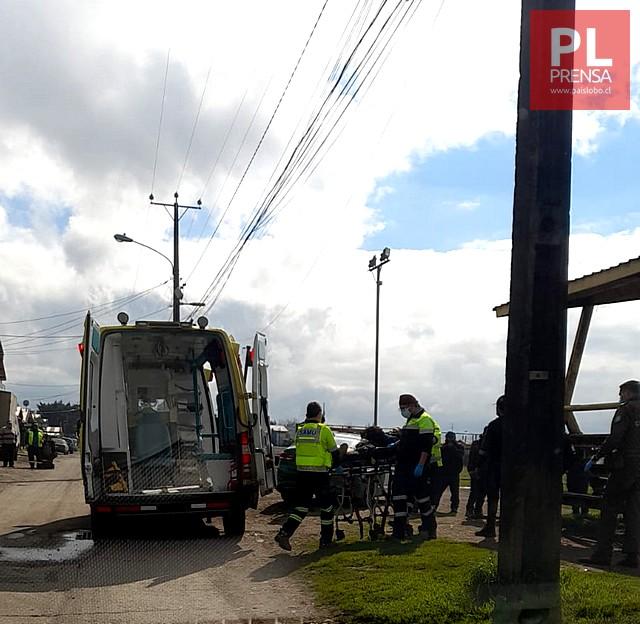 Osorno: hombre resulta apuñalado en el sector de Rahue
