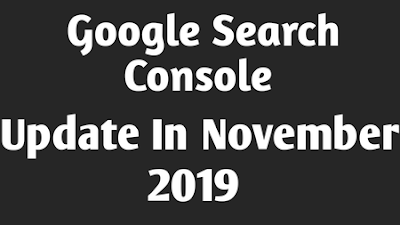 Google Search Console Update In November
