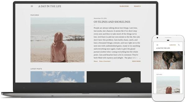 contoh blog tema soho