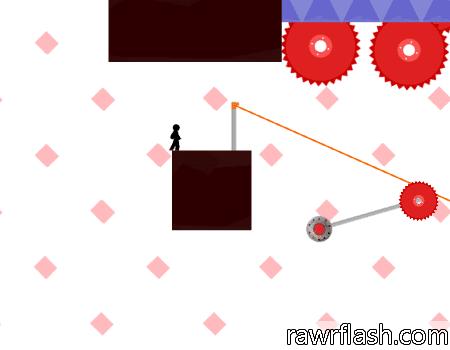 Vex 4 é um jogo de plataformas onde você sobe, pula, nada e navega em 9 situações desafiadoras.