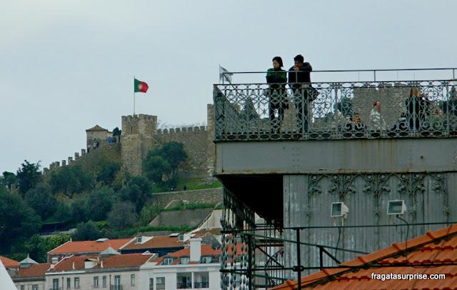 Lisboa: Mirante de Santa Justa e Castelo de São Jorge