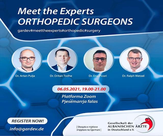 Incontro online dell'associazione dei medici albanesi in Germania, chirurgia ortopedica