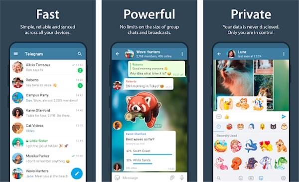 telegram best snapchat alternatives
