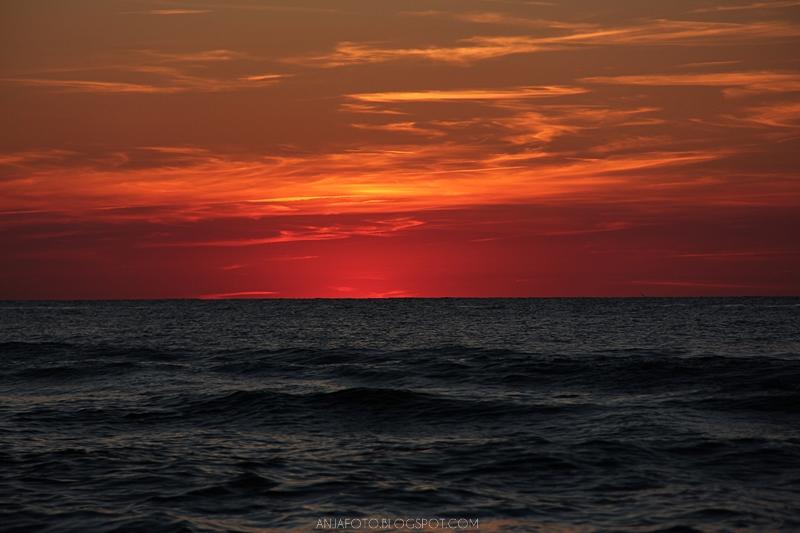 zachód słońca, zachód słońca nad morzem, Krynica Morska, Anja fotografia, fotograf łomianki