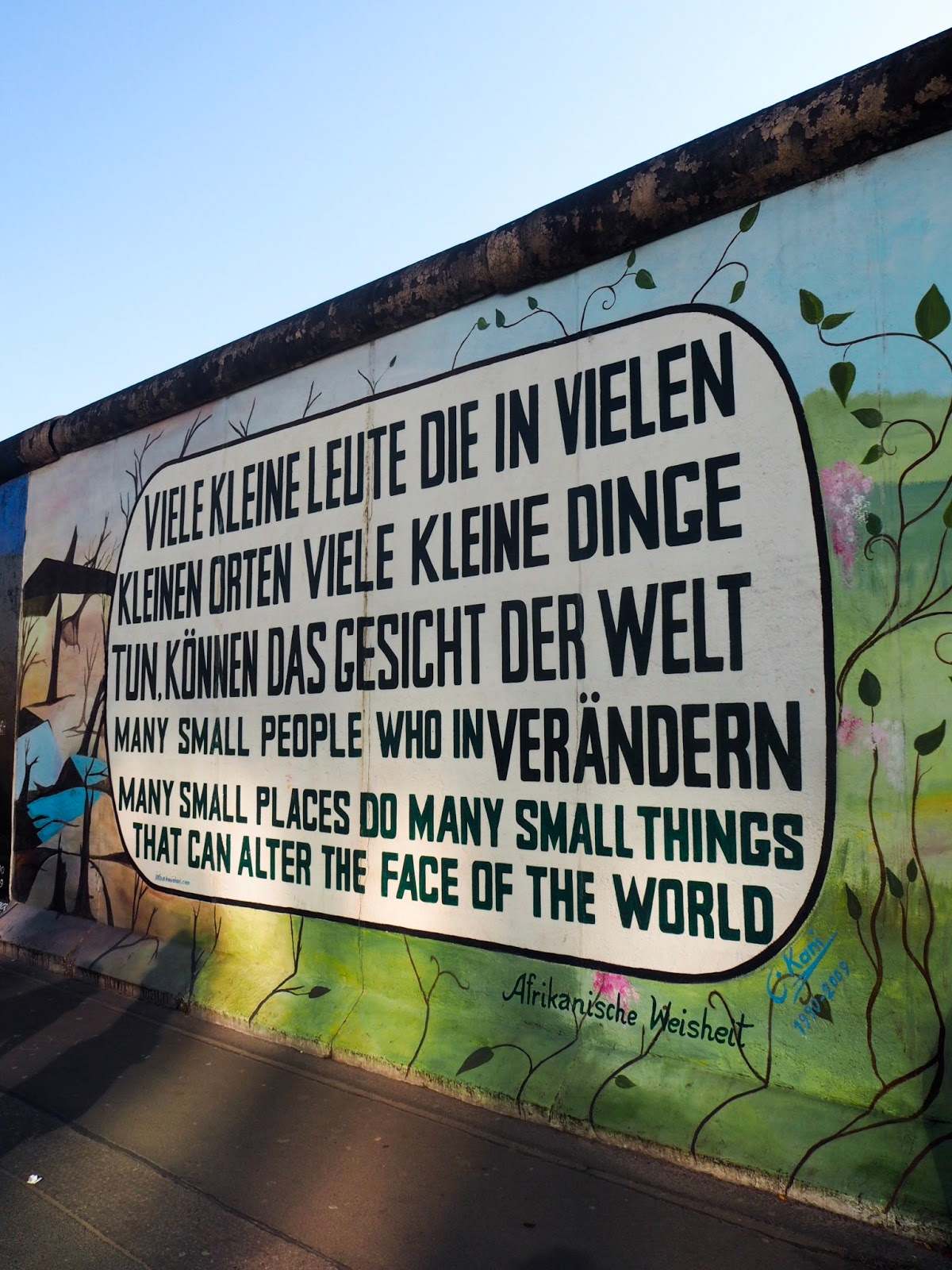 art on Berlin wall