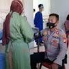 Kapolsek Marbo Pimpin Giat Vaksinasi Covid -19, Untuk Ketahanan Tubuh