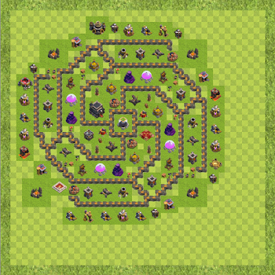 War Base Town Hall Level 9 By Prince Amjath (jath TH 9 Layout)
