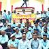 कानपुर - बिजली कर्मचारियों और अभियंताओं ने फूलबाग गांधी प्रतिमा पर किया सत्याग्रह