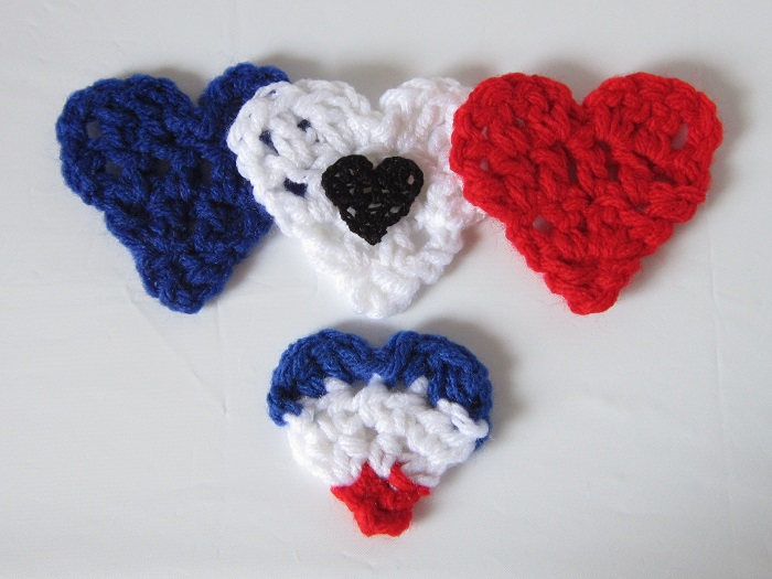 free crochet pattern, heart, Paris, November 13th