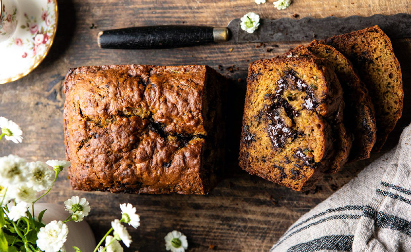 Chocolate Chunk Coconut Zucchini Bread