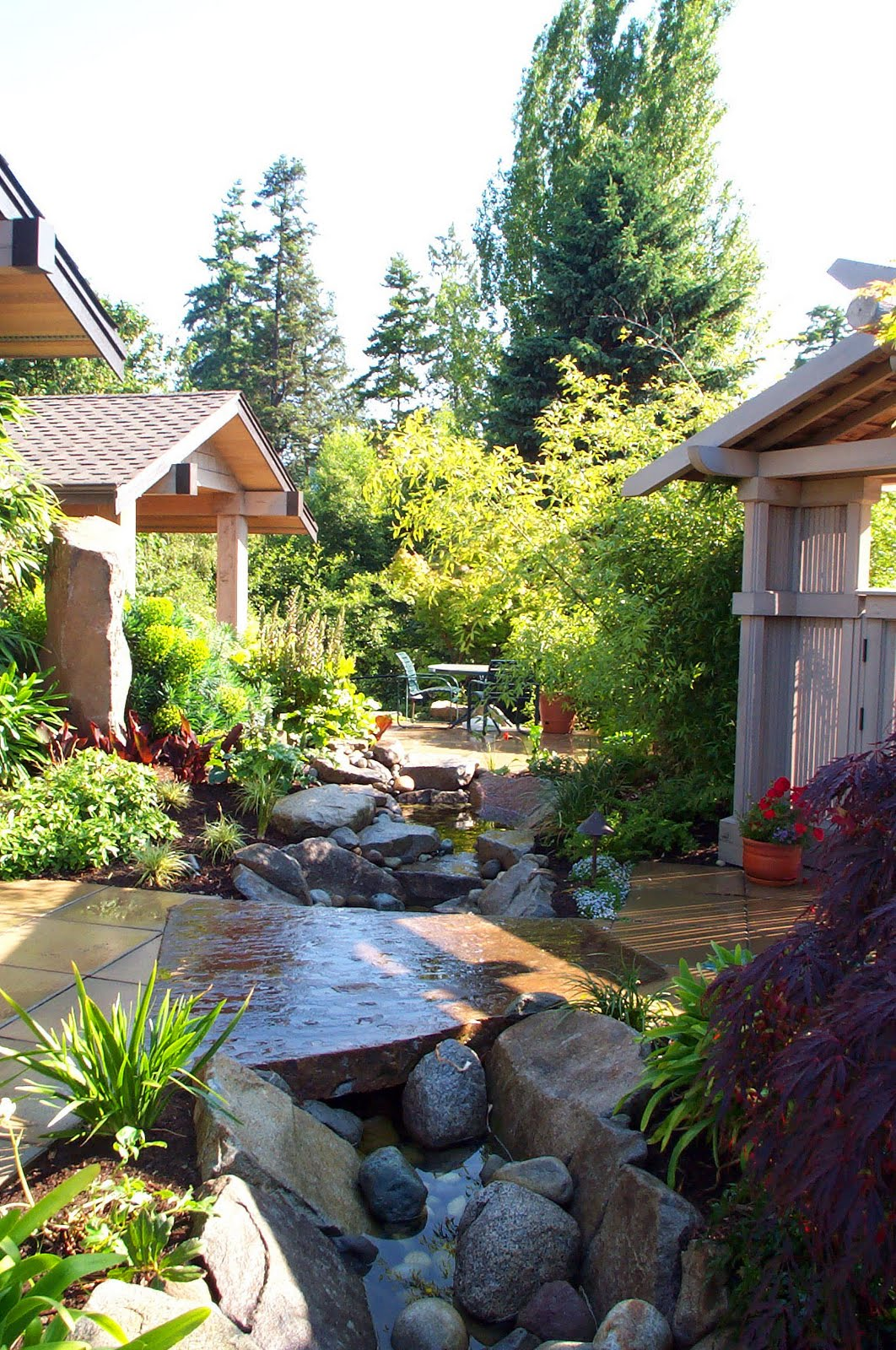 House Designs: Asian Style Landscape Northwest Home Style ... on Mansion Backyard Ideas id=60384