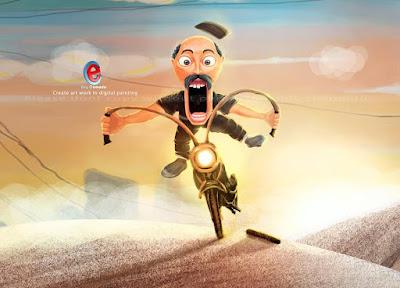 Pak Haji! Ban Motor Copot