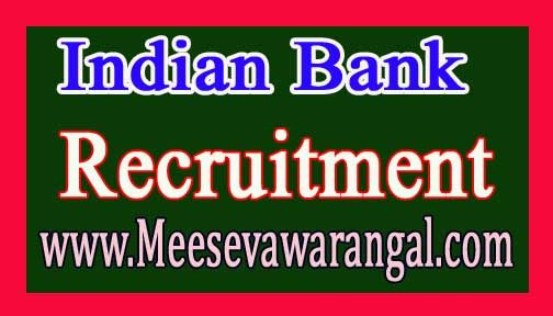 Indian Bank PO (324 posts) Recruitment 2017
