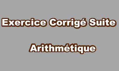 Suite Arithmétique Exercice Corrigé