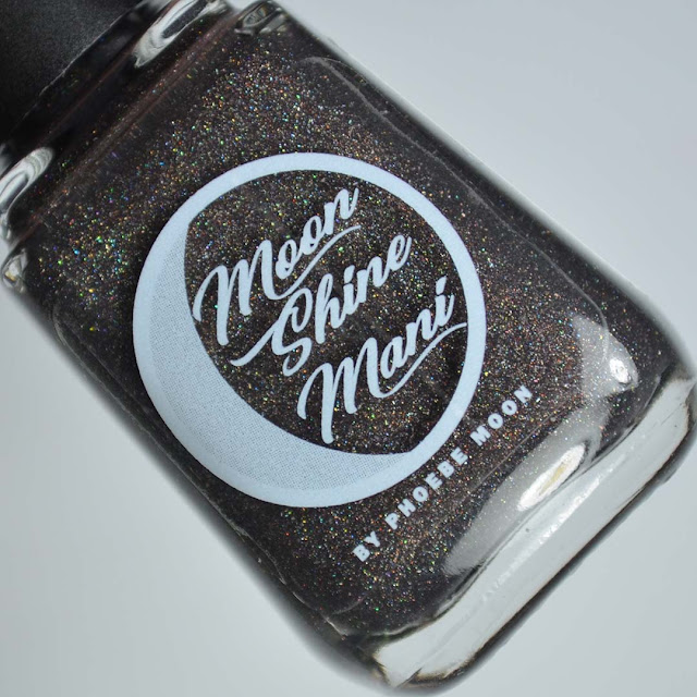 charcoal brown holographic nail polish