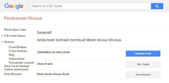Cara Membuat Mesin Pencari Khusus Google