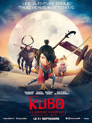 Cartel en francés de la película Kubo y las 2 cuerdas mágicas, Kubo and the two Strings