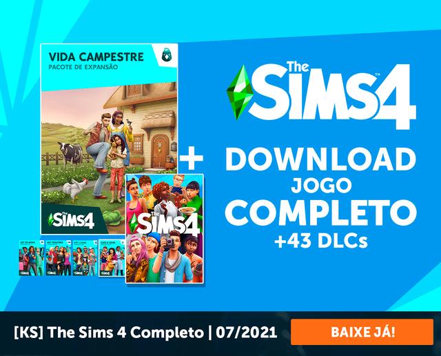The Sims 4 Completo com 43DLCs, versão 1.77 já disponível para download.